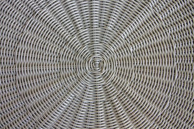 Close up texture d'une chaise en fil de rotin