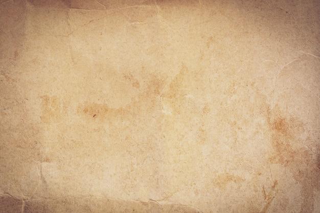Close up texture vieux papier brun froissé