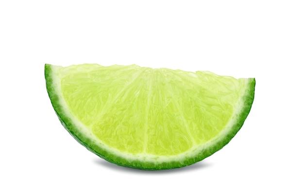 Close up tranche de citron vert frais
