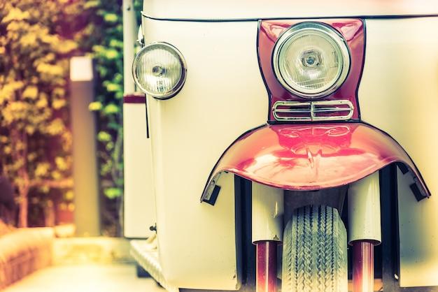 Close-up de véhicule d'époque