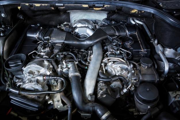 Close-up de la voiture capot