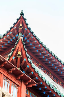 Closeup apparence classiques structure animale chinoise