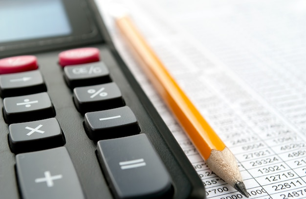 Closeup calculatrice