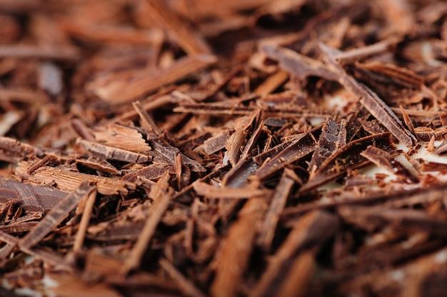 Closeup chocolat râpé