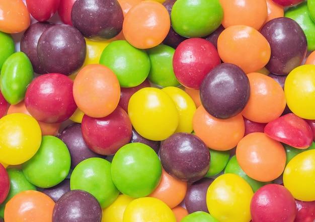 Closeup coloré bonbons fond texturé