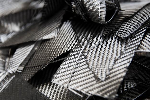 Closeup détail de la toile de fond de fibres de carbone