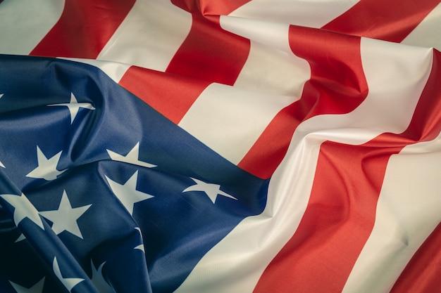 Closeup fond de drapeau américain
