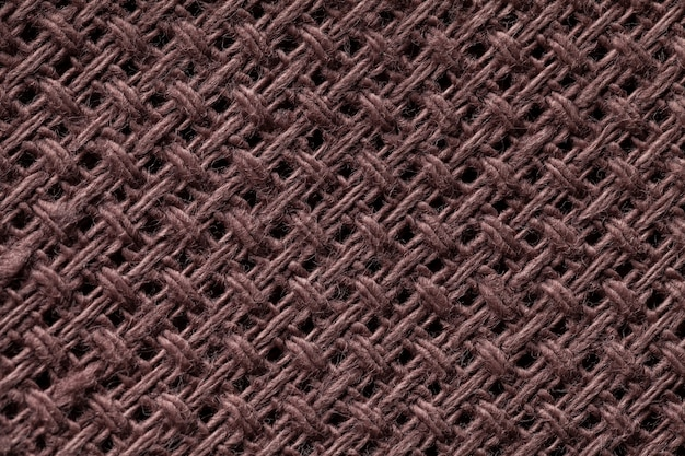 Closeup fond textile marron