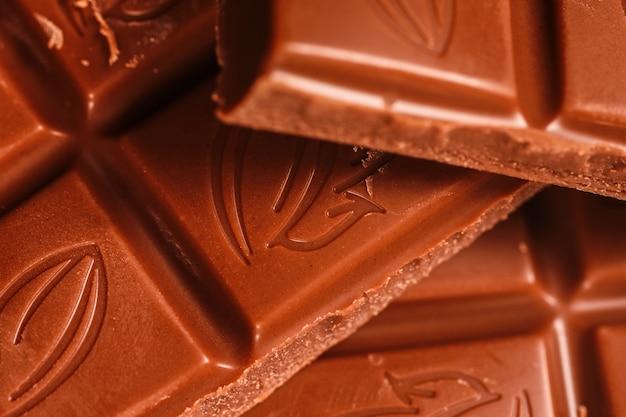 Closeup food pépites de chocolat