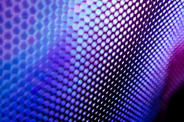 Closeup led écran flou. fond de flou de led. fond abstrait idéal pour la conception.