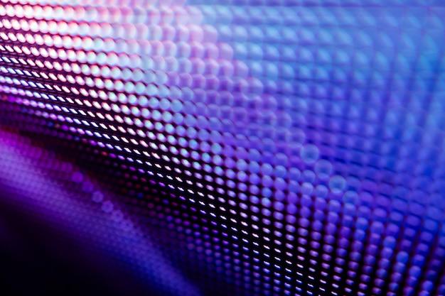 Closeup led écran flou. fond de flou de led