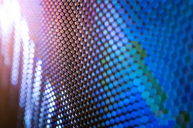 Closeup led écran flou