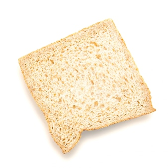 Closeup pain avec ombre isolée