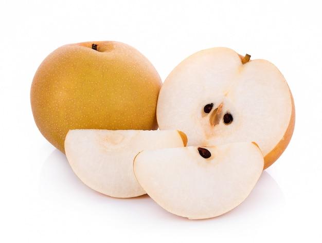 Closeup pear sur fond blanc