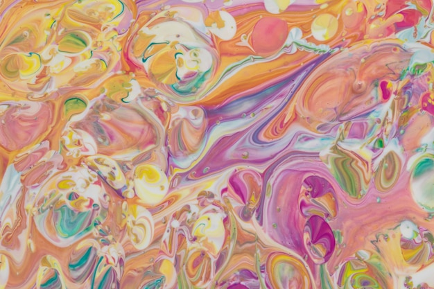 Closeup peinture acrylique coloré abstrait