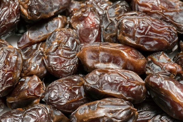 Closeup portion de dates sèches