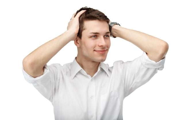 Closeup portrait de client masculin