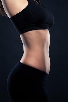 Closeup portrait du corps parfait d'une femme