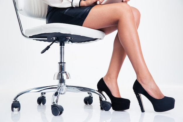 Closeup portrait d'une femme jambes