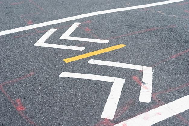 Closeup, rue, signe, croisement