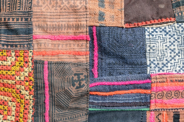 Closeup surface beau sac en tissu texturé