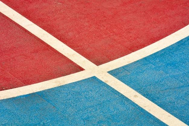 Closeup terrain de basket