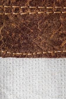Closeup texture cuir marron