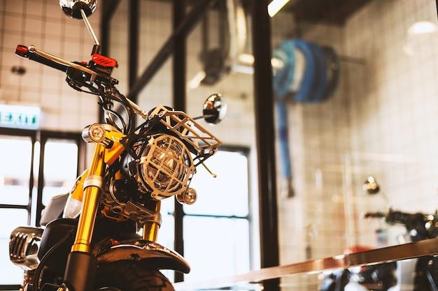 Closeup vintage moto