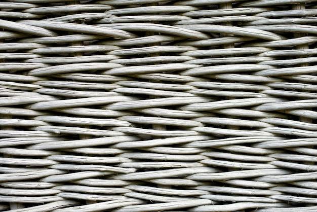 Clôture en bois en osier gris