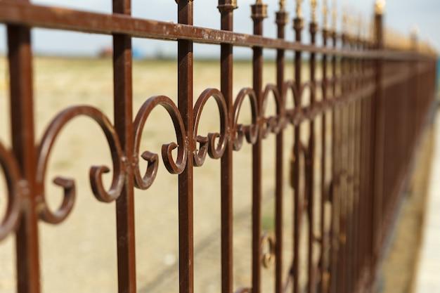 Clôture en fer forgé, clôture décorative en fer forgé