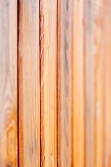 Clôture des planches de bois