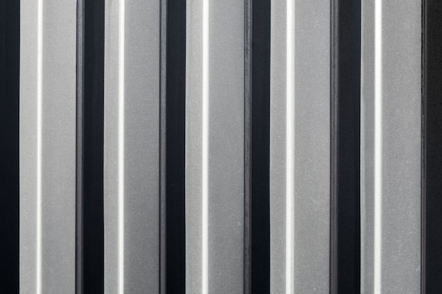 La clôture verticale est faite de tôle galvanisée de sol profilé texture et motif en métal