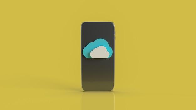Le cloud et le téléphone intelligent pour le rendu 3d du contenu du réseau technologique