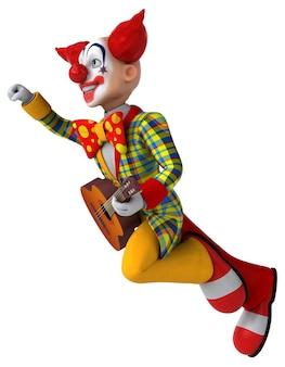 Clown amusant - illustration 3d