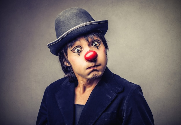 Clown furieux en colère