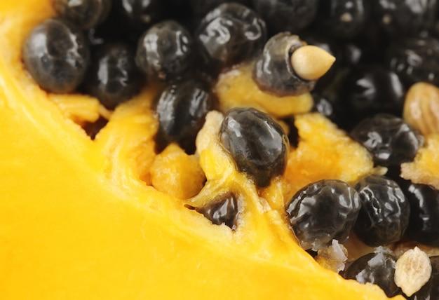 Clsoe de quelques graines de papaye