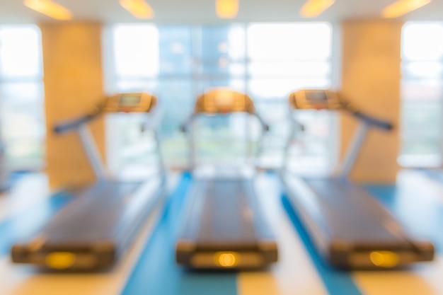 Club de fitness flou fond