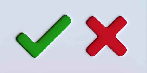 Coche verte et signe de la croix rouge sur fond blanc