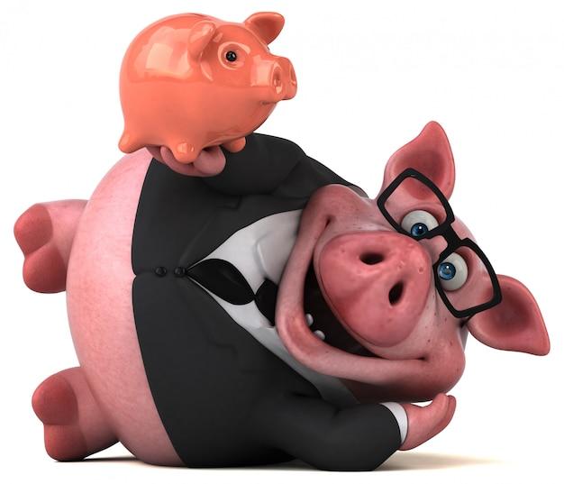 Cochon amusant 3d illustration