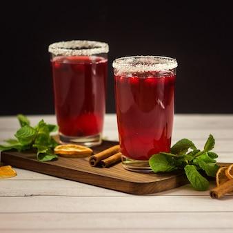Cocktail aux canneberges