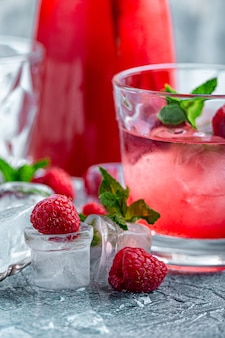 Cocktail aux framboises