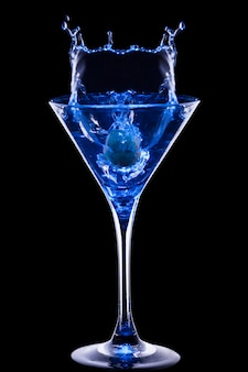Cocktail bleu coloré