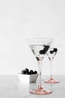 Cocktail de boisson alcoolisée martini