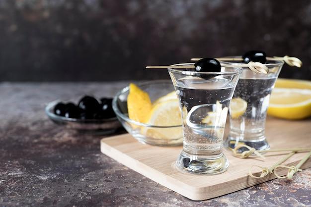 Cocktail de boissons alcoolisées martini