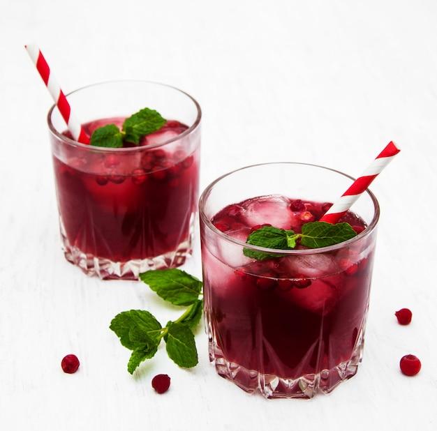 Cocktail de canneberges à la menthe