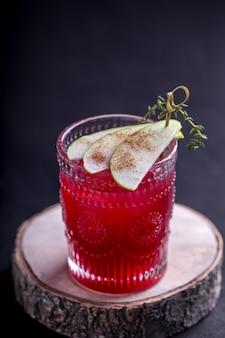 Cocktail de cassis à la pomme.