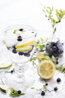 Cocktail eau détox. boisson rafraîchissante en été.