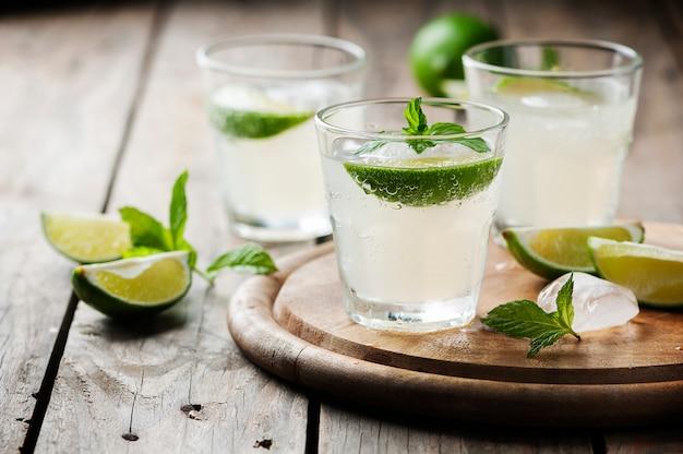 Cocktail d'été au citron vert et à la menthe