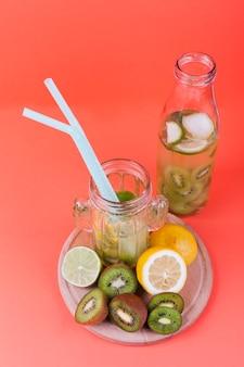 Cocktail d'été et ingrédients