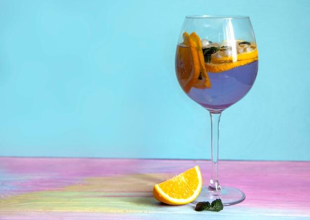 Cocktail d'été à la lavande et aux oranges